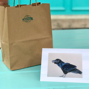 Blue crow Cards By Francie - Creatures of Habit-at