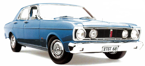 FORD XT GT FALCON STARLIGHT BLUE