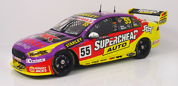 FORD FGX FALCON - SUPERCHEAP AUTO RACING - #55 - MOSTERT/OWEN - 2016 SANDOWN 500 RETRO LIVERY ( PRE -ORDER )
