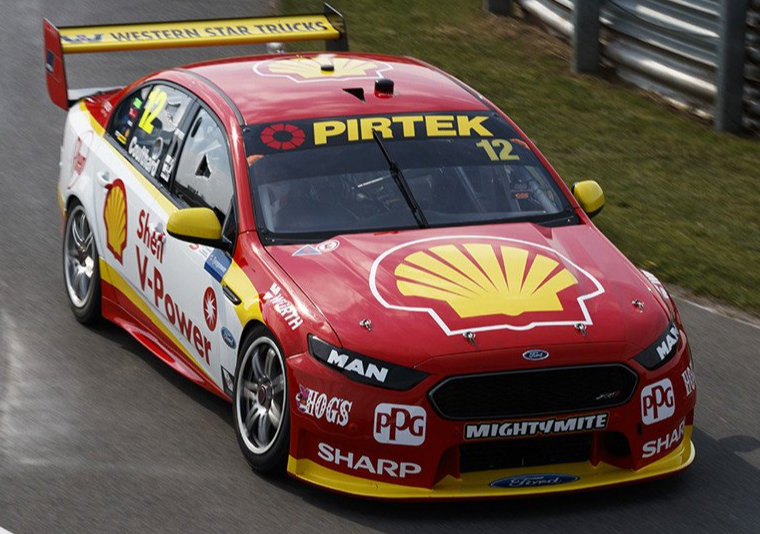 Ford FGX Falcon – Shell V-Power Racing – 2017 Tyrepower Tasmania SuperSprint (DJRTP's first championship race win).  Driver Fabian Coulthard