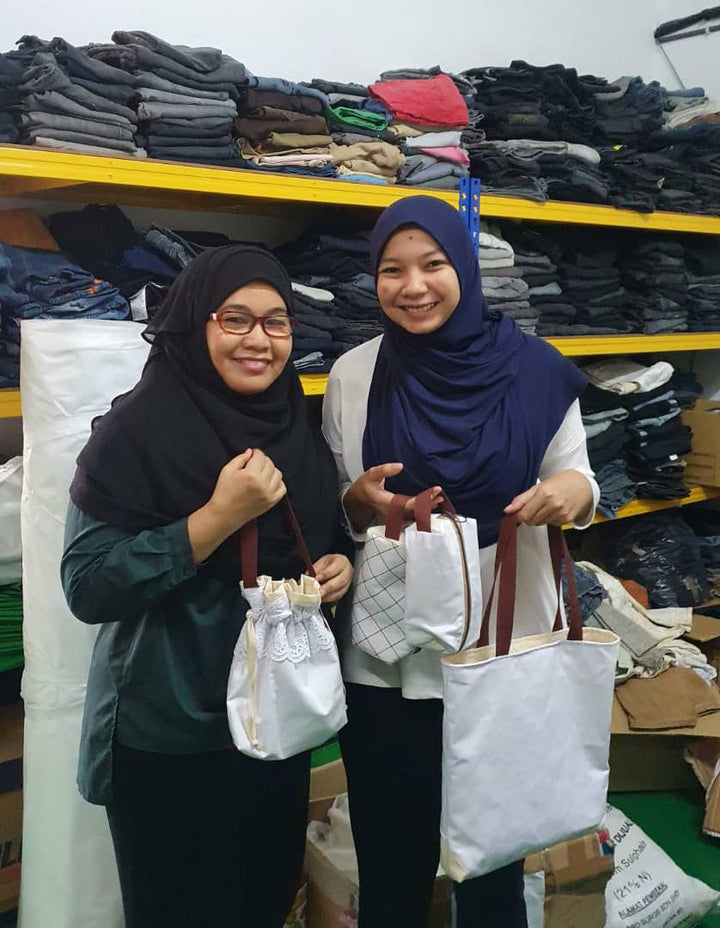 Zaahara X Suri - Upcycling Telekung project for 2021