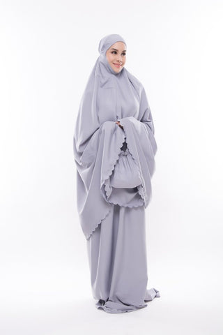 Telekung Travel kain cotton dari The Zaahara Telekung