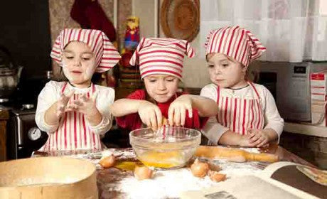 baking session with kids