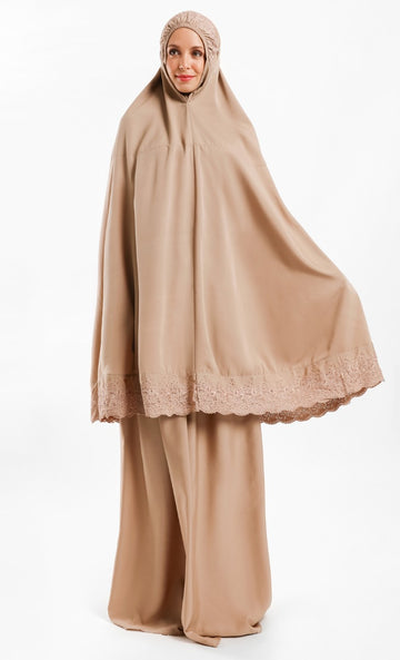 Telekung Dhiya in Light Brown