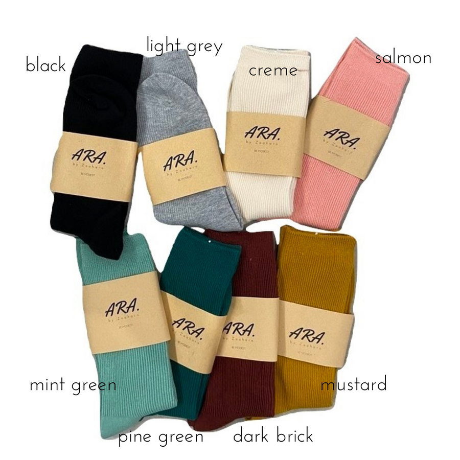 Colourful cotton socks for modest woman who loves sneakers