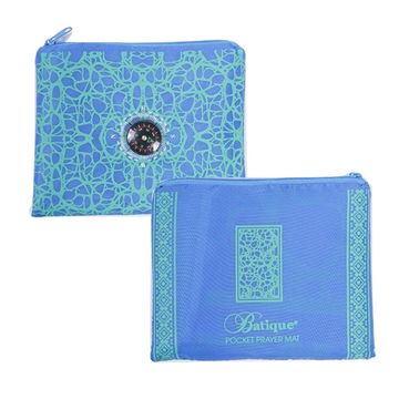 Batique Pocket Prayer Mat in Blue