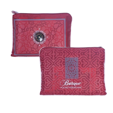 Batique Pocket Prayer Mat in Red
