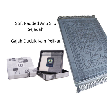 Mens Birthday Gift Set - Kain Pelikat by Gajah Duduk + Soft Padded Sejadah