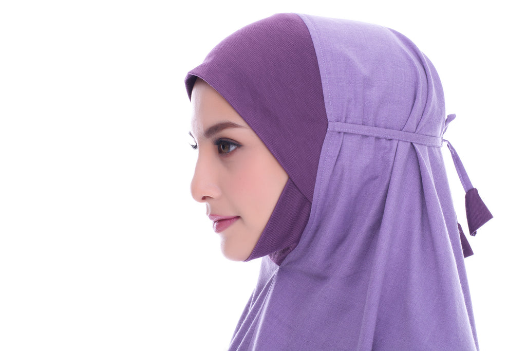 Telekung Orked - Dusty Purple