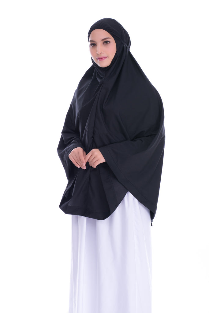 Telekung Mini Hidaya - Black (with Pocket)