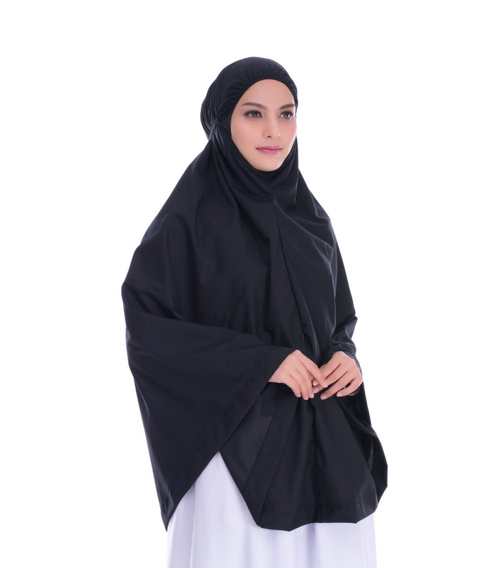 Telekung Mini Hidaya - Black with Pocket