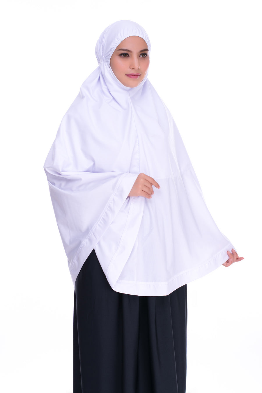 Telekung Mini Hidaya - White (with Pocket)