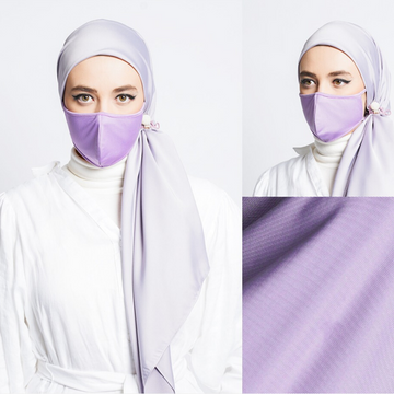 Hijabi Face Mask - Dri Tech Fabric in Lavender
