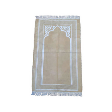 Rafie Sejadah in Beige - Turkey Prayer Mat