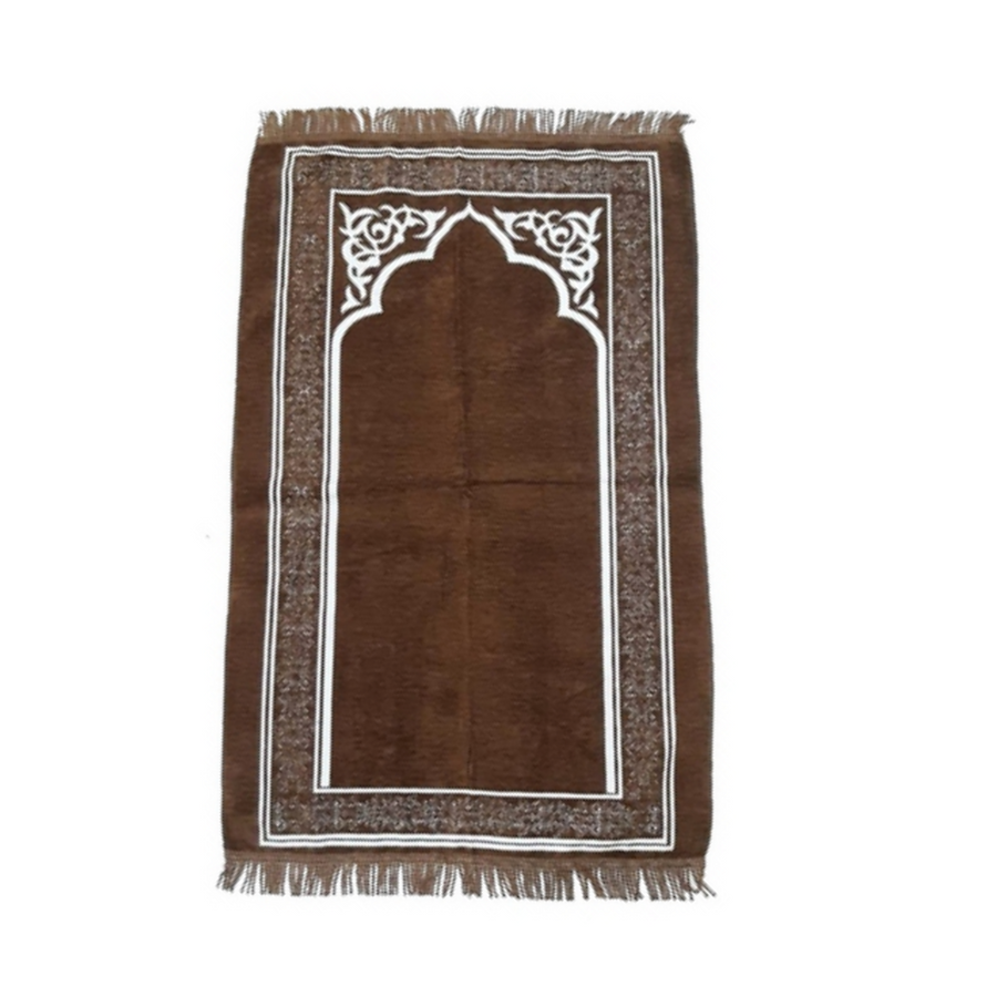 Rafie Sejadah in Dark Brown - Turkey Prayer Mat