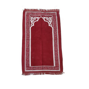 Rafie Sejadah in Maroon - Turkey Prayer Mat