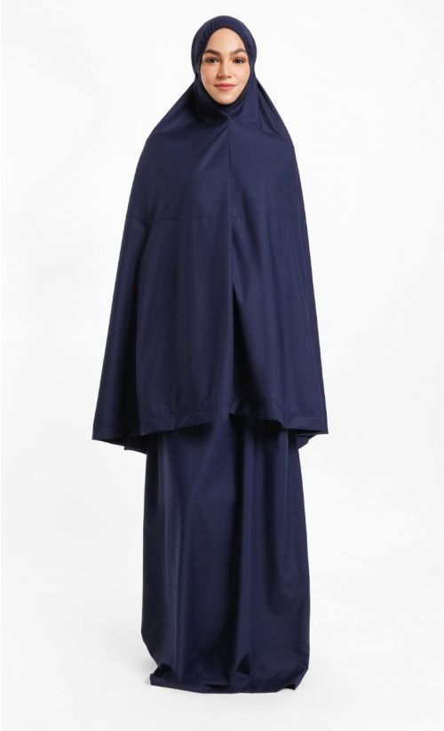 Telekung Hidaya - Dark Blue (No Pocket)