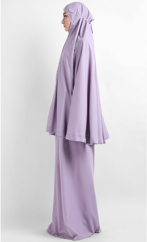 Telekung Hidaya - Purple with Pocket