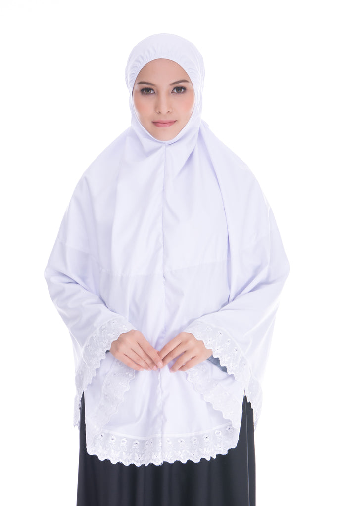 Telekung Mini with Pocket is made for those performing umrah or hajj. Also for those who frequents Masjid or Kenduri's.
