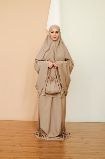 [2 for RM220] Travel Telekung - Telekung Sofia 3.0 in Light Brown