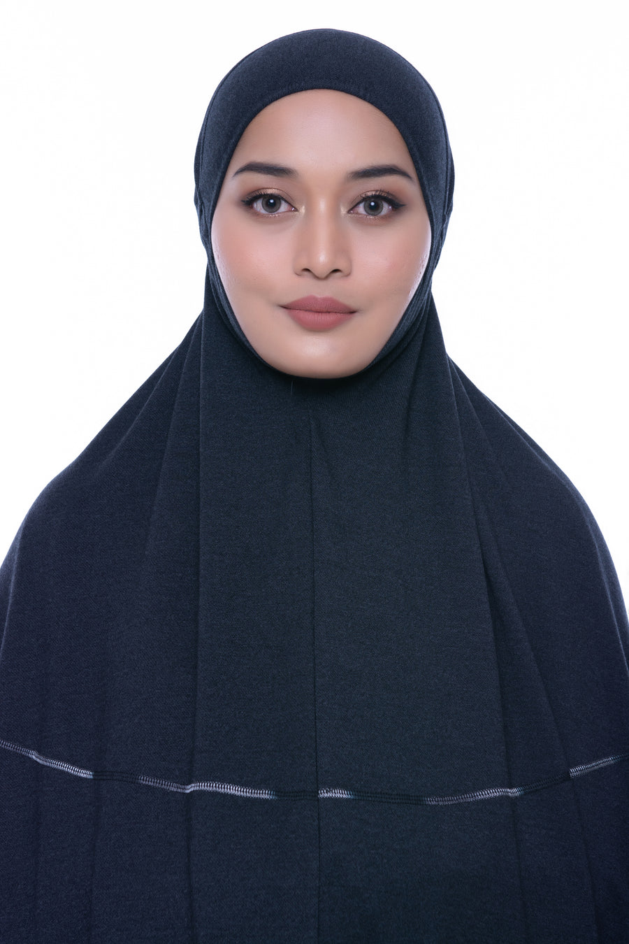Telekung Deena Denim - Black