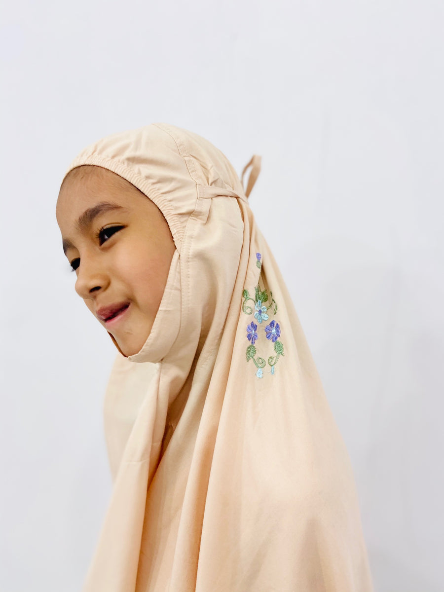 Kids Travel Telekung - Little Miss Lisa in Light Brown