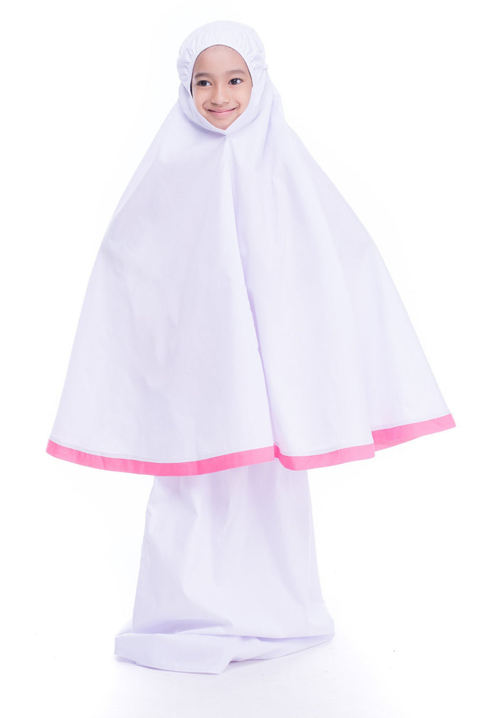 Kids Telekung - Little Miss Alya - Pink