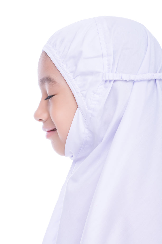 [PROMO FREE EMBROIDERY] Kids Telekung - Little Miss Alya - Pink
