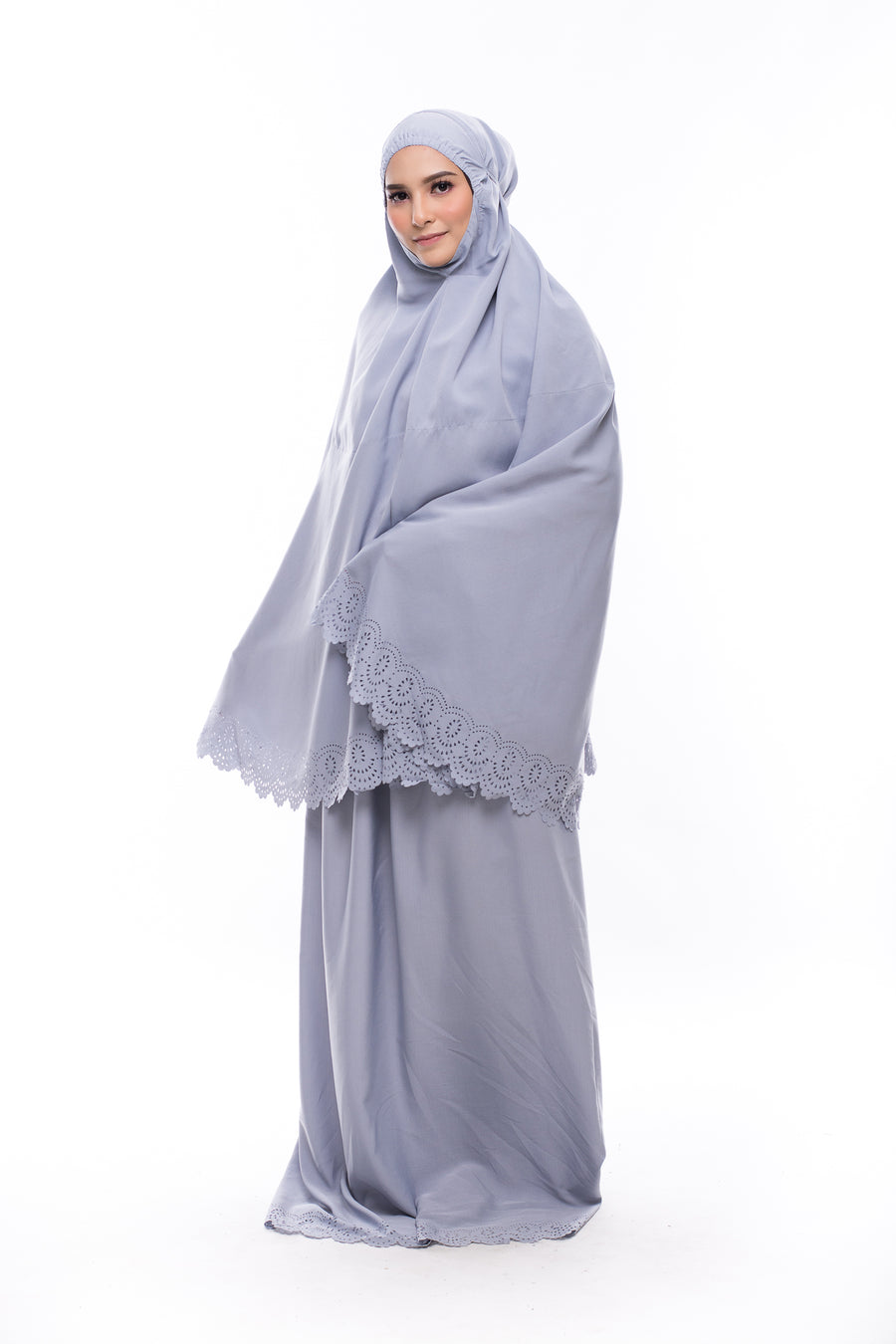 Telekung Athira - Light Grey