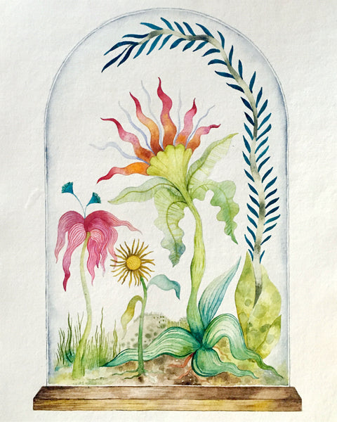 Original watercolours by Domenica Vavala ~ Mystical Garden ~