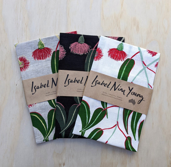 Linen Tea Towels by Isabel Young Textiles