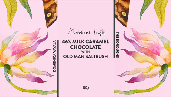 Milk caramel chocolate with Old  Man Saltbush