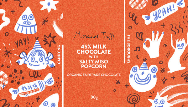 The Boroughs x Monsieur Truffe ~ Salty Miso Popcorn chocolate