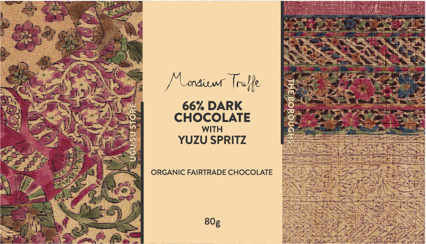The Boroughs x Monsieur Truffe ~ Yuzu Spritz 66% Dark Chocolate
