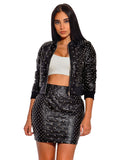 Olivia Stud Detail Quilted Vegan Leather Bomber Jacket