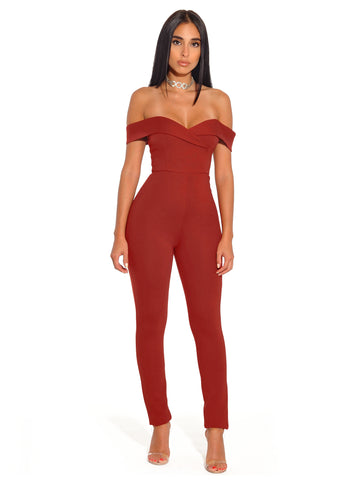 Mona Grey Suedette Cutout Detail Long Sleeve Jumpsuit
