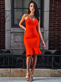 Analise Flared Hem Bandage Dress