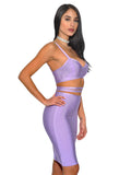 Ophelia Lavender Cut Out Bodycon Bandage Dress