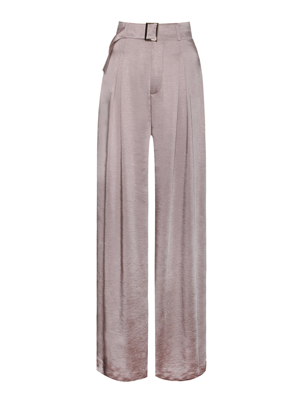 Say My Name Satin Wide Leg Trousers - Miss Circle