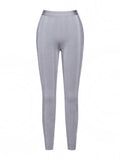 Kia Jacquard Silver Bandage Pants (IN STOCK)