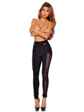 Yvonne Sheer Cutout Detail Black Bandage Pants