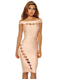 Esther Cut Out Detail Off Shoulder Bandage Dress