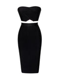 Charlene Strapless Sweetheart Top Two Piece Bandage Dress