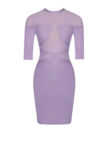 Hayden Off Shoulder Cutout Bandage Dress