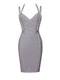 Willa Halter Top Gray Bandage Dress