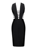 Daya Black Cutout Detail Bandage Dress