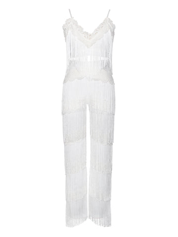 Pandora Fringe Detailed Two Piece Pantsuit