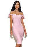 Chalita Off The Shoulder Bandage Dress