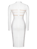 Giorgia Winter White Long Sleeve Bandage Dress
