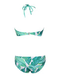 Condesa Tassel Palm Print Two Piece Swimsuit